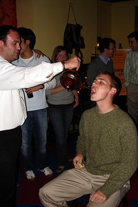 Rob, enjoying his tequila shot at the Corp Alumni Happy Hour - Washington, DC ... November 3, 2006 ... Photo by Jillian K.