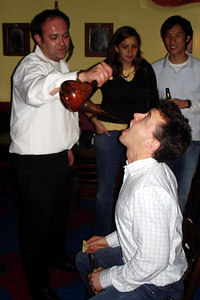 Tequila shots for Carpenter at the Corp Alumni Happy Hour - Washington, DC ... November 3, 2006 ... Photo by Rob Page III