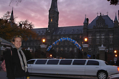 Jillian, enjoying Georgetown at homecoming - Washington, DC ... November 4, 2006 ... Photo by Rob Page III