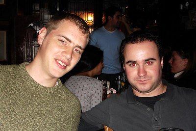 Rob and Elliot down in the Tombs - Washington, DC ... November 3, 2006