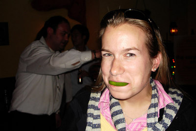 Jillian, enjoying her tequila shot - Washington, DC ... November 3, 2006 ... Photo by Rob Page III