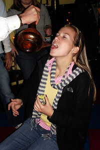Jillian, getting her tequila shot at the Corp Alumni Happy Hour - Washington, DC ... November 3, 2006 ... Photo by Rob Page III