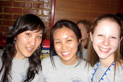 Helen, Ifang, and Emily taking in the game - Washington, DC ... March 31, 2007 ... Photo by Rob Page III