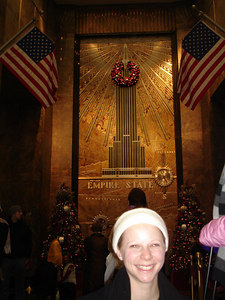 Emily and the Empire State Building - New York, NY ... January 1, 2006 ... Photo by Rob Page III