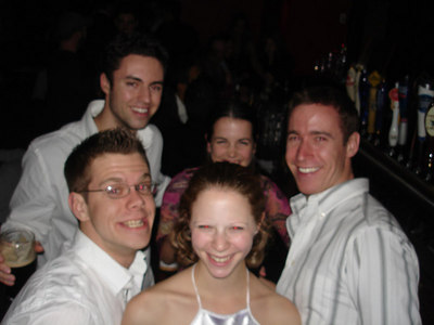 Mike, Chaz, Christine, Emily, and Mike's frind at the Jashua Tree - New York, NY ... January 1, 2006 ... Photo by Rob Page III