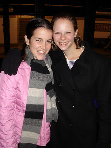 Christine and Emily in the NYC subway on our way to Joshua Tree - New York, NY ... January 1, 2006 ... Photo by Rob Page III