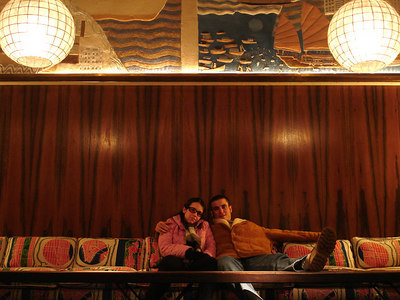 Christine and Pedro chilling at the Maritime Hotel - New York, NY ... January 3, 2006 ... Photo by Rob Page III