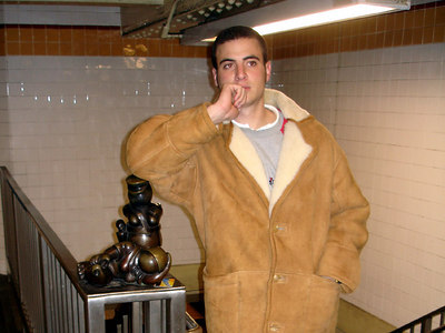 Chilling in the subway - New York, NY ... January 3, 2006 ... Photo by Rob Page III