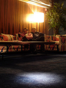 Rob and Christine relaxing at the Maritime Hotel - New York, NY ... January 3, 2006 ... Photo by Rob Page III
