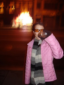 Christine, burning up the night - New York, NY ... January 3, 2006 ... Photo by Rob Page III