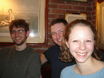 Dermot, Dan, and Emily out to Dinner - Washington, DC ... January 14, 2006 ... Photo by Rob Page III