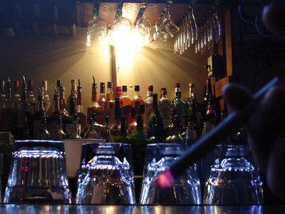At the bar at Madhatter - Washington, DC ... January 14, 2006 ... Photo by Rob Page III