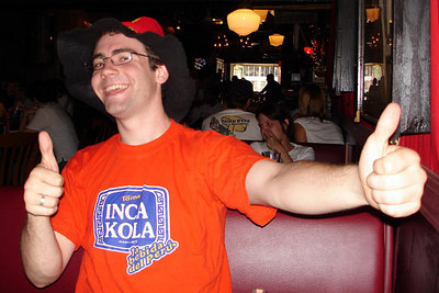 Dermot, cheering on Germany for the World Cup - Washington, DC ... June 30, 2006 ... Photo by Rob Page III