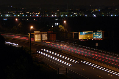 Highway Lights - Arlington, VA ... July 4, 2006 ... Photo by Rob Page III