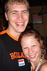 Rob and Emily at Mad Hatter - Washington, DC ... July 8, 2006