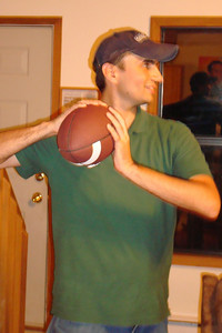 Playing football in the house - McHenry, MD ... September 12, 2008