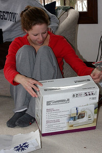 A new sewing machine - Chagrin Falls, OH ... December 25, 2008 ... Photo by Bob Page Jr.