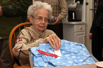 Grandma receives a nice new shirt - Phoenixville, PA ... December 27, 2008 ... Photo by Bob Page Jr.