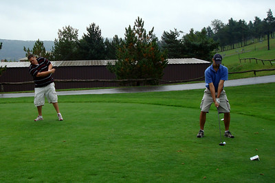 Mike and Christiaan are about to tee off - McHenry, MD ... September 13, 2008 ... Photo by Rob Page III