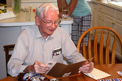 Grandpa reads one of his cards - Phoenixville, PA ... August 17, 2008 ... Photo by Rob Page Jr.