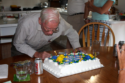 Blowing out the candles - Phoenixville, PA ... August 17, 2008 ... Photo by Rob Page Jr.