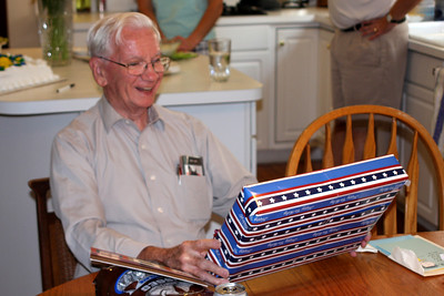 Opening Birthday gifts - Phoenixville, PA ... August 17, 2008 ... Photo by Rob Page Jr.