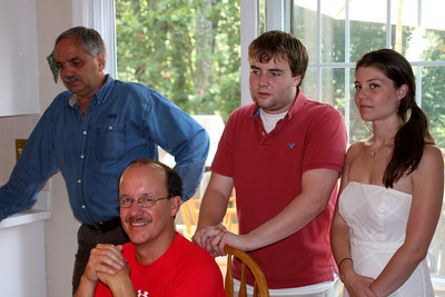 Watching grandpa open his gifts - Phoenixville, PA ... August 17, 2008 ... Photo by Rob Page Jr.