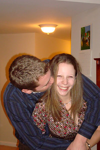 Rob and Emily sharing a kiss - Arlington, VA ... January 1, 2008 ... Photo by Logan Kendall