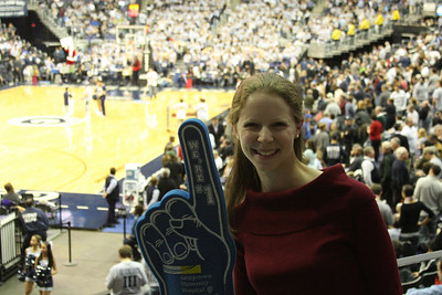 Emily enjoying the game - December 13, 2008 ... Photo by Rob Page III