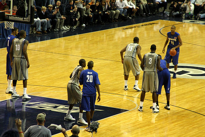 The Hoyas on defense - December 13, 2008 ... Photo by Rob Page III