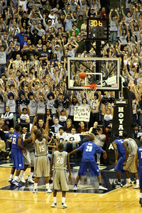 A crucial free throw towards the end of regulation - December 13, 2008 ... Photo by Rob Page III