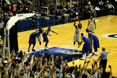 Jessie Sapp putting up a free throw - December 13, 2008 ... Photo by Rob Page III