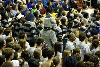 Jack joins the students to cheer on the Hoyas - December 13, 2008 ... Photo by Rob Page III