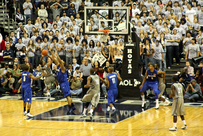 Wright taking an off-balance shot - December 13, 2008 ... Photo by Rob Page III