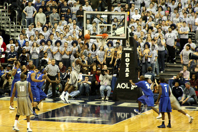 Wright drives to the hoop with about 10:30 left - December 13, 2008 ... Photo by Rob Page III