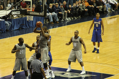 Monroe pulling down the rebound - December 13, 2008 ... Photo by Rob Page III
