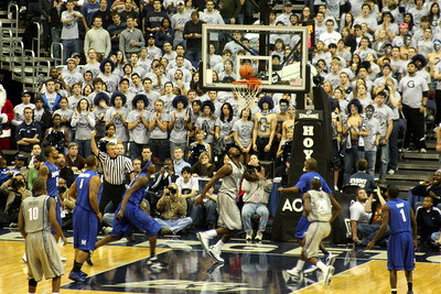 Waiting for the shot to fall after the foul was called - December 13, 2008 ... Photo by Rob Page III