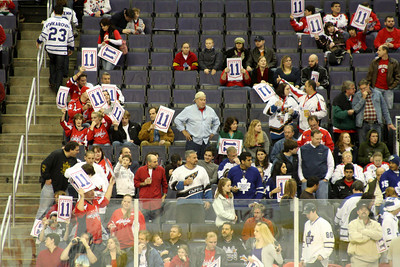 The fans had signs for Mike Gartner as his number was to be retired at the game - Washington, DC ... December 28, 2008 ... Photo by Rob Page III