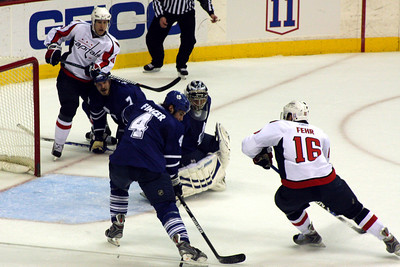 Bringing the puck in on the goal - Washington, DC ... December 28, 2008 ... Photo by Rob Page III