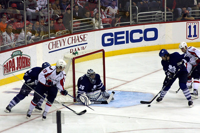 Clearing away the puck - Washington, DC ... December 28, 2008 ... Photo by Rob Page III