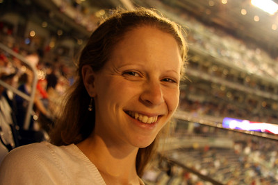 Emily enjoying the game - Washington, DC ... June 23, 2008 ... Photo by Rob Page III