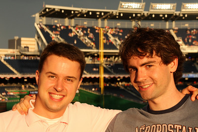 Jon and Dermot at Nationals Park - Washington, DC ... June 23, 2008 ... Photo by Rob Page III