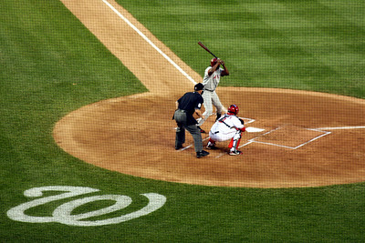 Vladimir Guerrero at bat - Washington, DC ... June 23, 2008 ... Photo by Rob Page III