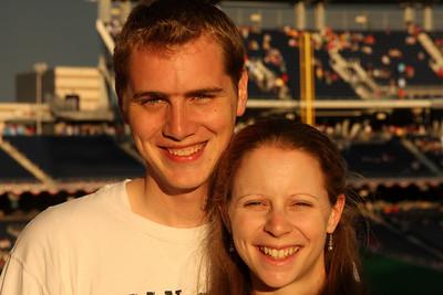 Rob and Emily at Nationals Park - Washington, DC ... June 23, 2008 ... Photo by Jon Carpenter