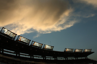 The clouds above the stadium after the storm - Washington, DC ... June 23, 2008 ... Photo by Rob Page III