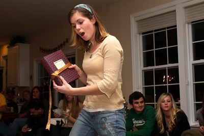 Nicole opens the final gift - Phoenixville, PA ... December 27, 2008 ... Photo by Bob Page Jr.