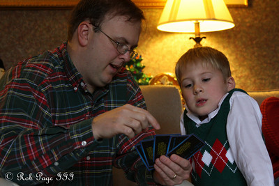 Michael learns how to play cards - Roswell, GA ... December 25, 2009 ... Photo by Rob Page III