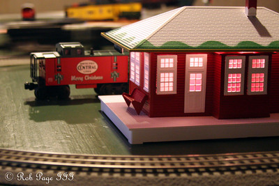 Playing with trains - Roswell, GA ... December 25, 2009 ... Photo by Rob Page III