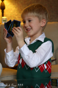 Michael learning how to play cards - Roswell, GA ... December 25, 2009 ... Photo by Rob Page III