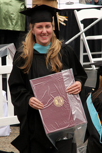 Heather with her degree - Chestnut Hill, MA ... May 18, 2009 ... Photo by Rob Page Jr.
